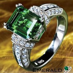 Emerald stone brings the good fortune gift emerald ring to your loved ones