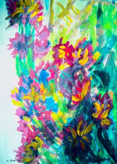 Impresja kwiatowa 2017 Aquarell Modern style