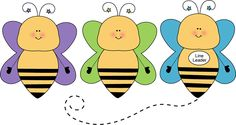 Bee line leader - cute free graphics for teachers