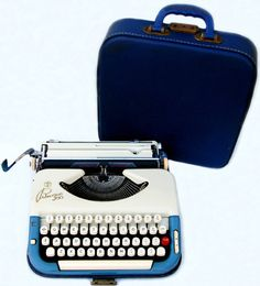 RESERVED - 1959 Princess Cursive/Script PROFESSIONALLY SERVICED Typewriter with Case