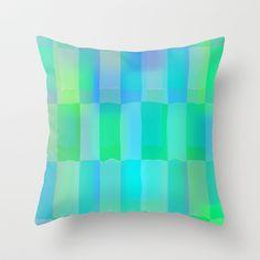 Aqua Pattern Throw Pillow by Betty Mackey - $20.00