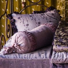 Bella Notte Decorative Neckroll Pillow Celeste Jacquard #laylagrayce