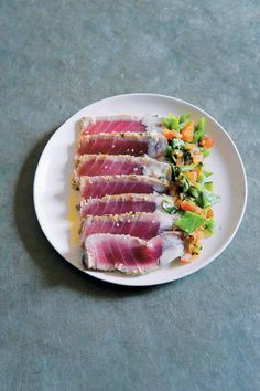 Sesame tuna carpaccio...my fave way to enjoy good Tuna!