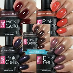 This is a gallery of all of my Gelish swatches, sorted by color!  This post is updated regularly with new swatches so be sure to check back regularly.