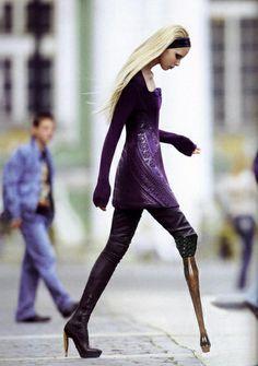 Prosthetic couture from Richard Kadrey's Damn Tumblr.
