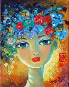 Paper Collage Art, Berber, Fantastic Art, Whimsical Art, Portrait Art, Medium Art, Canvas Art Prints, Female Art, Illustrations