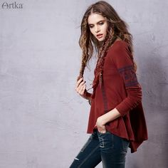 Find More Information about Artka Women's 2015 Autumn Vintage Bohemia Embroidered Decoration T shirt Big O Neck Pullover Long T shirt ZA15550Q,High Quality t-shirt screen print machine,China t-shirt usb Suppliers, Cheap t-shirt bleach from Artka on Aliexpress.com