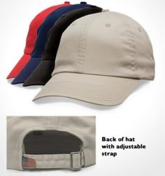 Unstructured Washed Twill Cap Made in the USA