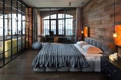 Industrial Style Bedroom Design Ideas-02-1 Kindesign