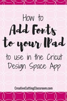 I love to use my Design Space app to work on projects while…