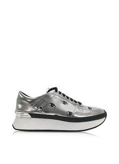 new arrival e9f6e 1a451 Metallic-Trend Kenzo Sneaker Eyes Absatz, Leder, Kenzo, Plattform  Turnschuhe,