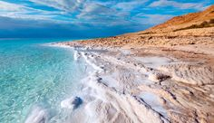 DEAD SEA on the border of Jordan and Israel; one of the saltiest bodies of water in the world. ---- How many of these 39 natural wonders of the world have you been to? Dead Sea Israel, Places To Travel, Places To See, Beautiful World, Beautiful Places, Amazing Places, 7 Natural Wonders, Totes Meer, Tourist Sites