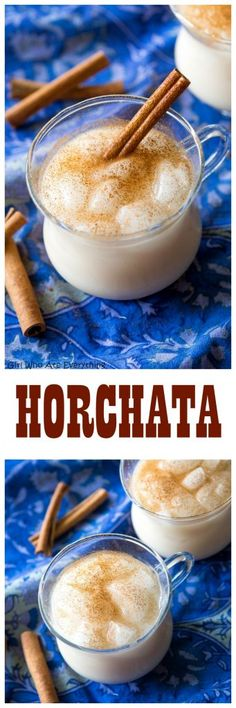 Horchata - a refreshing rice milk drink with a hint of cinnamon served over ice. the-girl-who-ate-everything.com