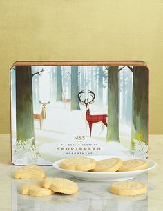 Shortbread Stag Tin