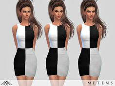 Ariana dress by Metens at TSR via Sims 4 Updates