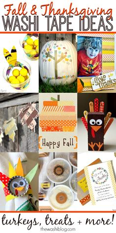 Fall and Thanksgiving Washi Tape Ideas