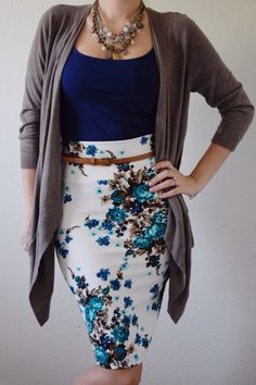 LuLaRoe floral pencil Cassie skirt!