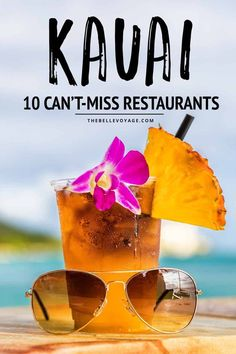 Kauai is a beautiful island with tons of unique food. We wanted to help out the foodies by telling you what the 10 best restaurants in Kauai are. From Poipu to Princeville and Hanalei, find out exactly where to eat on this Hawaiian island paradise. Kauai Vacation, Hawaii Honeymoon, Hawaii Travel, Travel Usa, Italy Travel, Travel Tips, Italy Vacation, Vacation Ideas, Travel Guides