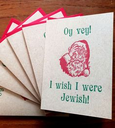 Oy Vey Letterpress Cards – Set of 6 by Lady Pilot Press on Scoutmob Shoppe. At least one day a year, anyhow.