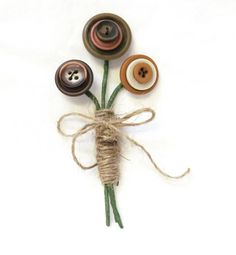 Button Boutonniere Wedding In Earth Tones by MHart2heart on Etsy, $12.00