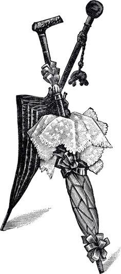Free Vintage Umbrellas Clip Art! - The Graphics Fairy