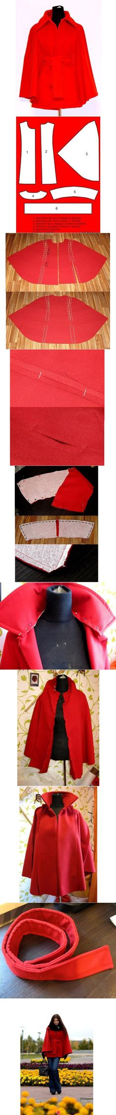 FREE Cape Sewing Pattern and Picture Tutorial … … Más