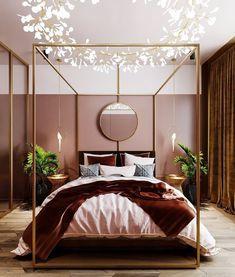 Cozy bedroom DIY 12 Cozy Bedroom Ideas that Guess Next Years Color Trends Pink Bedroom Walls, Cozy Bedroom, Home Decor Bedroom, Bedroom Ideas, Bedroom Colours, Bedroom Black, Narrow Bedroom, Pink Bedrooms, Master Bedrooms