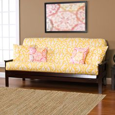 Adele Yellow Futon Cover | Overstock.com Shopping - The Best Deals on Other Slipcovers