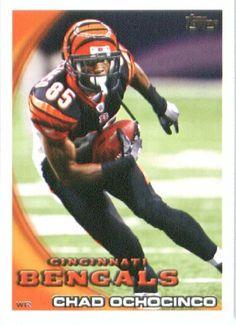 2010 Topps NFL Football Card # 210 Chad Ochocinco Johnson - Cincinnati Bengals - NFL Trading Card in a Protective ScrewDown Case! by Topps. $2.95. 2010 Topps NFL Football Card # 210 Chad Ochocinco Johnson - Cincinnati Bengals - NFL Trading Card in a Protective ScrewDown Case!