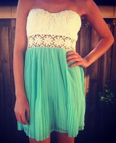 lace and teal
