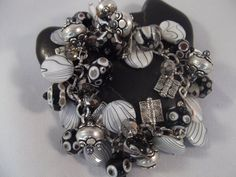 MADE TO ORDER Handmade Mixed Media Black Gray White by KariLynHill, $65.00