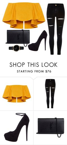 """""""Untitled #337"""" by alexis1501 on Polyvore featuring River Island, Giuseppe Zanotti, Yves Saint Laurent and Freedom To Exist"""