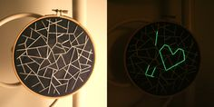 Hidden glow in the dark embroidery, this is so neat!