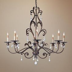 "Currey and Company Pompeii 8-Light 35"" Wide Chandelier"