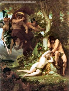 Alexandre Cabanel - La Cacciata di Adamo ed Eva dal Giardino del Paradiso