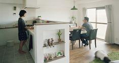 キッチン事例:キッチン1(SOU (リノベーション))キッチンカウンターのニッチ