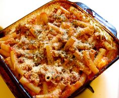 Cheese, Main Dishes, Pasta - Baked Ziti - Foodprim