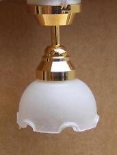 Casa de muñecas en miniatura de LED Luz Lámpara de techo de la batería alimentado escala 1/12th