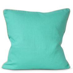 Solid Pillow- Turquoise - Furbish Studio