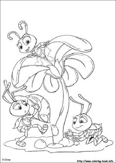 A Bug's life coloring picture  See more coloring pages at http://www.dltk-kids.com/coloring.htm