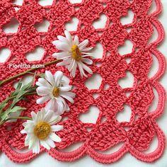 "Shawl "" Hello March with hearts"" By Fionitta | | Fionitta crochet"