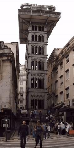 Santa Justa Elevator, Lisbon, Portugal  #wanderlust #landscape #travel #traveling #travelgram #traveler #blogger #beautifuldestinations #photooftheday #photography #vacation #traveladdict #blog #explore #travelphotography #beautiful #followme #europe #gif #video