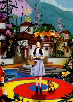 Dorothy. Toto. Arriving. Like an acid trip.The Wizard of Oz. '39.