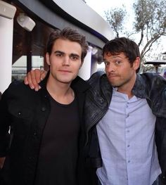 Paul Wesley and Misha Collins at Comic Con. Aww**