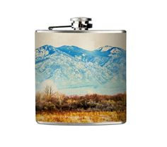 Beautiful Mountain Landscape Flask. Great for hunters, camping, and the great outdoor lovers!