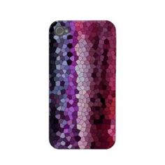 iphone4-4s case pink & purple mosaic tile case-mate iphone 4 case from Zazzle.com