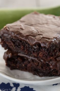 A delicious way to use up those zucchini - these Zucchini Brownies are fudgy and perfect!