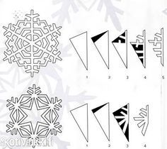 Lumihiutale paperista | Kotivinkki Art Connection, Christmas Crafts, Christmas Decorations, Paper Snowflakes, Hobbies And Crafts, Yule, Origami, Winter, Ukulele