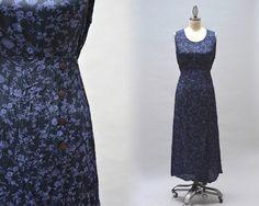 Aprile Cornell Sun Dress  Vintage 80s Rayon Dress by Day17Vintage