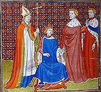 Philippe V, the Tall (1292 - 1322). King of France from 1316 to 1322. He married Joan II, Countess of Burgundy and had three daughters.